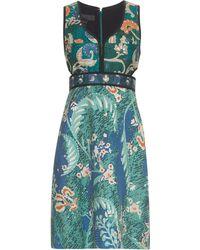Burberry Prorsum - Floral-print Cotton And Silk-blend Dress - Lyst