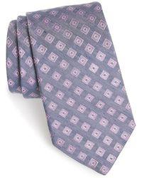 Michael Kors - Geometric Silk & Linen Tie - Lyst