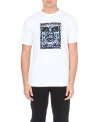 Obey White Noise Cotton T-shirt - Lyst