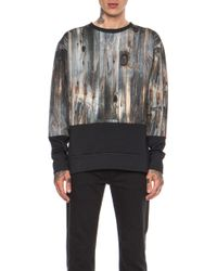 Casely-Hayford - Balby Printed Wood Split Panel Cotton Sweatshirt - Lyst