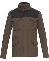 Lanvin Leather And Cotton Field Jacket - Lyst