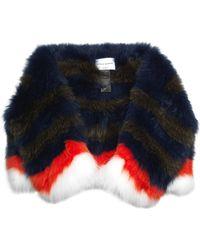 Sonia Rykiel Striped Fox-Fur Stole multicolor - Lyst