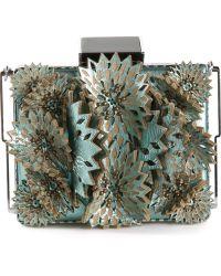 Tonya Hawkes Applique Flower Box Clutch - Lyst