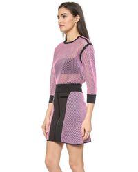 Ohne Titel | Reversible Mesh Pullover - Pink/Black | Lyst