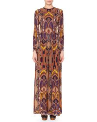 Etro - Printed Stretch-crepe Jumpsuit - Lyst