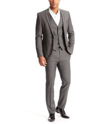 Hugo Awet/Wans/Hambrey | Slim Fit, Super 100 Virgin Wool 3-Piece Suit gray - Lyst