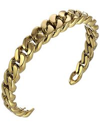 Michael Kors Collection Frozen Curb Chain Open Cuff - Lyst