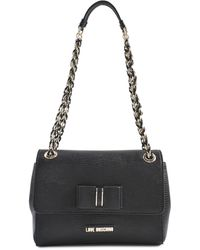 Love Moschino I Love Bow Flap Bag - Lyst