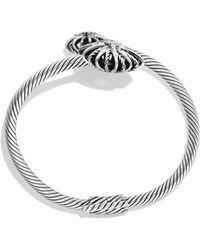 David Yurman Starburst Open Bracelet With Diamonds - Metallic