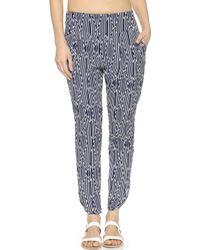 Tori Praver Swimwear Ashwood Pants - Jaipur Indigo - Lyst