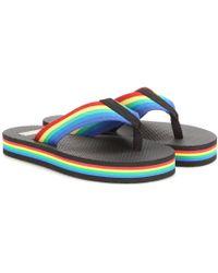 Saint Laurent Rainbow Platform Flip-Flops - Multicolor