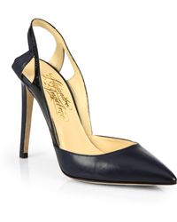Alejandro Ingelmo - Frederica Leather Patent Leather Slingback Pumps - Lyst