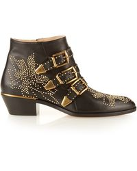 Chloé   Susannah Stud-embellished Leather Boots   Lyst