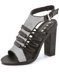 L.A.M.B. Bedford Sandals - Grey/Black - Lyst