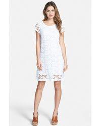 Lucky Brand Lace Shift Dress - Lyst