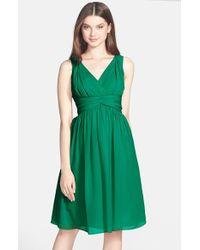Donna Morgan Jessie Twist Waist Chiffon Dress - Lyst