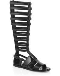 BOSS | 'benton' | Leather Gladiator Sandals | Lyst