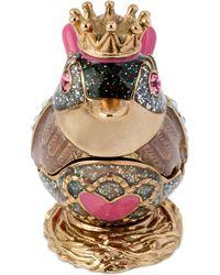 Betsey Johnson Gold-tone Pink Bird Keepsake Box - Lyst