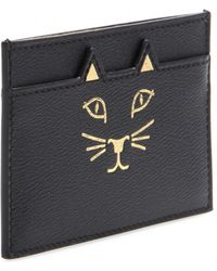 Charlotte Olympia Feline Leather Card Holder - Lyst