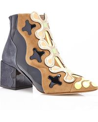 Nicholas Kirkwood Peter Pilotto Ankle Boot In Fumo Suede - Lyst