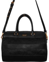Badgley Mischka Penny Nappa Leather and Hair Calf Satchel - Lyst