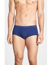 Calvin Klein Cotton Briefs, (4-Pack) blue - Lyst