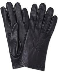 Turnbull & Asser - Silk Lined Black Leather Gloves - Lyst