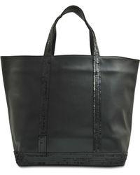 Vanessa Bruno Medium Tote Leather Sequins - Lyst