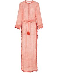 Talitha Moroccan Jaya Beach Cover Up - Red