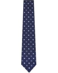 Turnbull & Asser | Contrast Spotted Silk Tie | Lyst