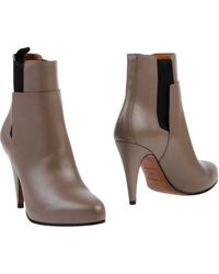 Balenciaga Brown Ankle Boots - Lyst