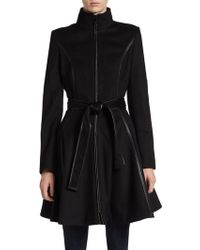 Dawn Levy Fergie Seamed & Belted Coat - Lyst