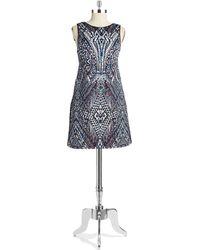 Dex Printed Sheath Dress - Blue