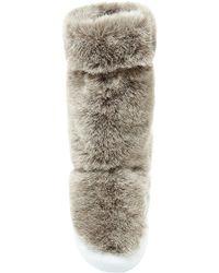 Joshua Sanders - Beige Faux Fur Boots - Lyst