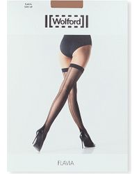 Wolford Brown Flavia Stay-Ups - Lyst