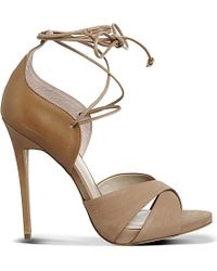Office | Ascend Multi-tie Leather Heeled Sandals | Lyst