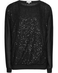 Reiss Dover Sequin Lace Top - Lyst