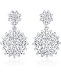 Paul Morelli - Mixed Diamond Cluster Double Dangle Earrings - Lyst