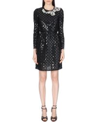 Marc Jacobs Sequinned Round Neck Dress - Lyst