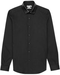 Reiss Varney Contrast Texture Shirt - Lyst