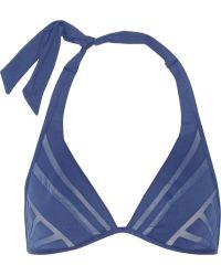 La Perla Dunes Mesh-trimmed Underwired Bikini Top - Lyst