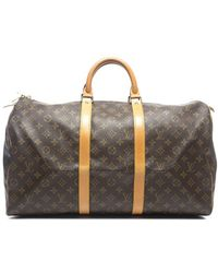Louis Vuitton Pre-Owned Monogram Canvas Keepall 50 Bag - Lyst