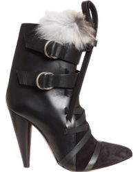 Isabel Marant Rob Suede Buckle Boots - Lyst