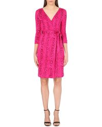 Diane von Furstenberg New Julian Long Silk Wrap Dress - For Women - Lyst