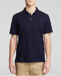 Bloomingdale's Cotton Jersey Polo - Regular Fit - Blue