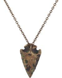 Pamela Love - Bronze Mini-Arrowhead Pendant Necklace - Lyst