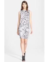 McQ by Alexander McQueen Sleeveless Woven Silk & Cotton Knit Dress - Lyst