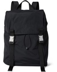 Sandro Leather And Mesh-trimmed Shell Backpack - Black