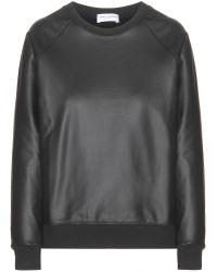 Saint Laurent | Coated Coated Sweatshirt | Lyst