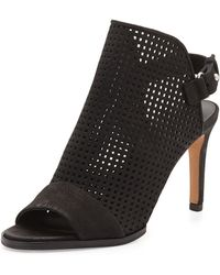 Vince Aden Perforated Nubuck Bootie - Lyst